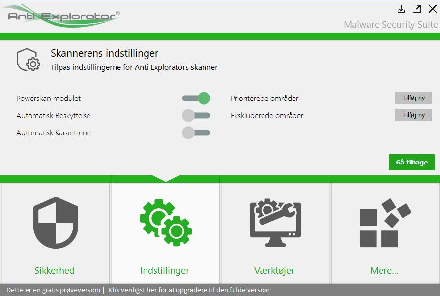 Få scannet din PC hurtigt for spyware og andet malware med Powerscan i Anti Explorator